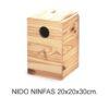 Nido Madera Ninfas Y Cotorras 20X20X30 Cm.